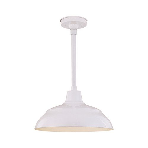 "Millennium Lighting RWHS17-WH R Series 17"" Diameter Industrial White Dome Shade - Dome Shade Only(May be ceiling hung with stem RS-, canopy kit RSCK and Wire Guard RWG . May be wall hung with Goose Neck RGN)"