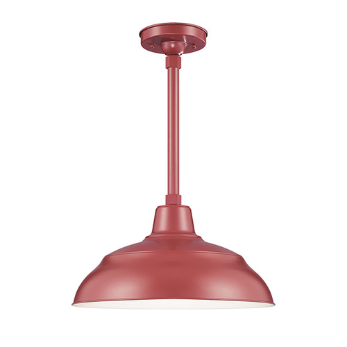 "Millennium Lighting RWHS17-SR R Series 17"" Diameter Industrial Satin Red Dome Shade - Dome Shade Only(May be ceiling hung with stem RS-, canopy kit RSCK and Wire Guard RWG . May be wall hung with Goose Neck RGN)"