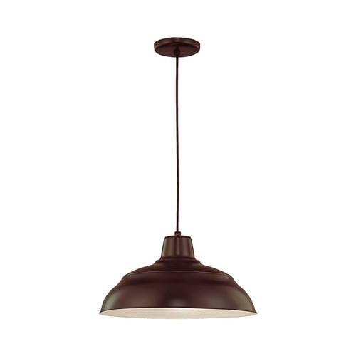 "Millennium Lighting RWHC17-ABR R Series Warehouse Industrial Pendant in Architectural Bronze - 17"" Diameter(Wire Guard RWG Sold Separately)"