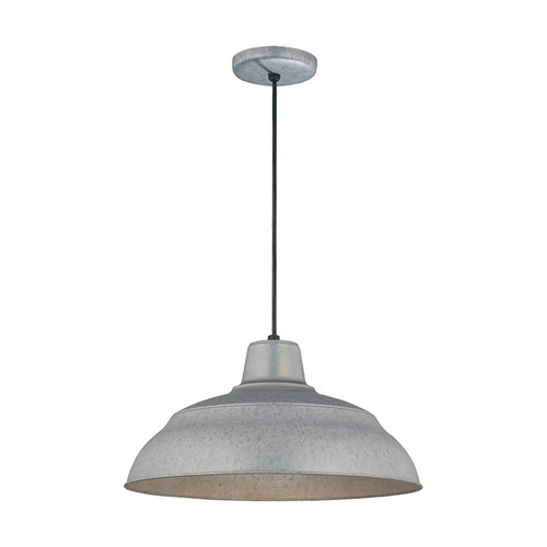 "Millennium Lighting RWHC17-GA R Series Warehouse Industrial Pendant in Galvanized Steel - 17"" Diameter(Wire Guard RWG Sold Separately)"