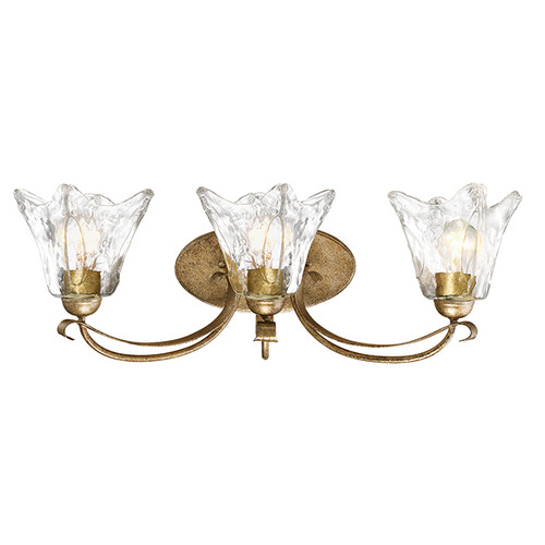 Millennium Lighting 7453-VG Chatsworth Clear Vanity Light in Vintage Gold
