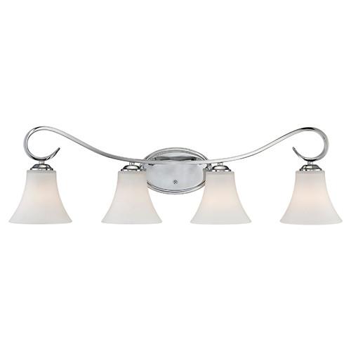 Millennium Lighting 284-CH Fair Lane Etched White Vanity Light in Chrome