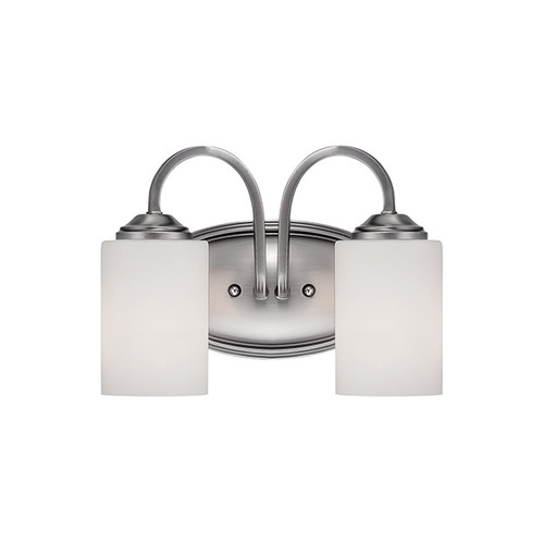 Millennium Lighting 3072-BPW Lansing Etched White Vanity Light in Brushed Pewter