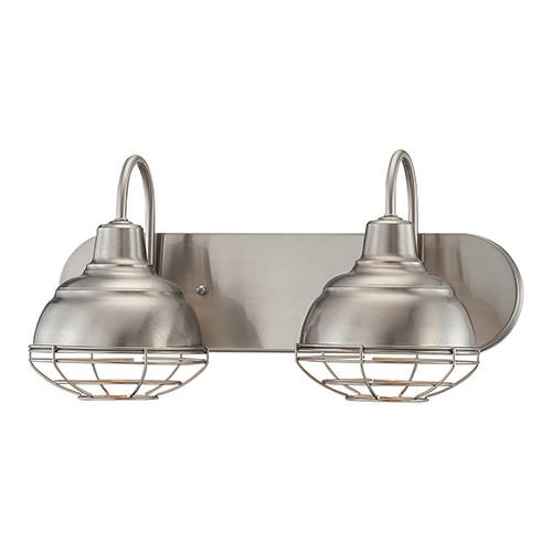 Millennium Lighting 5422-SN Neo-Industrial Vanity Light in Satin Nickel