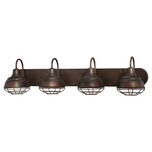 Millennium Lighting 5424-RBZ Neo-Industrial Vanity Light in Rubbed Bronze