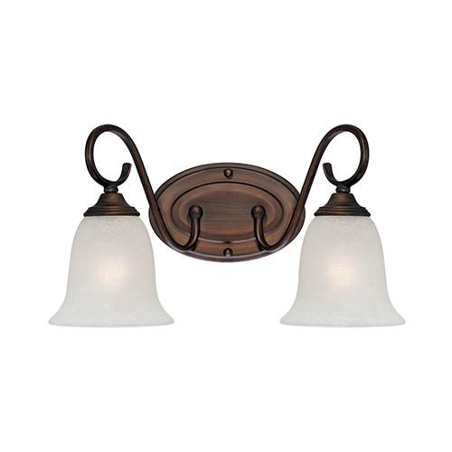 Millennium Lighting 1182-RBZ Light India Scavo Vanity Light in Rubbed Bronze