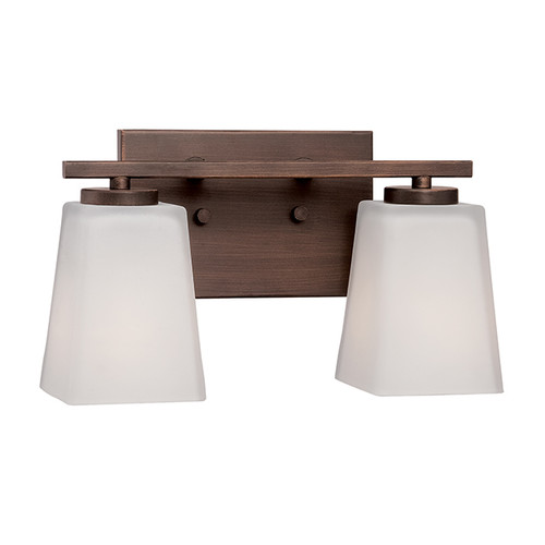 Millennium Lighting 292-RBZ Etched White Vanity Light in Rubbed Bronze