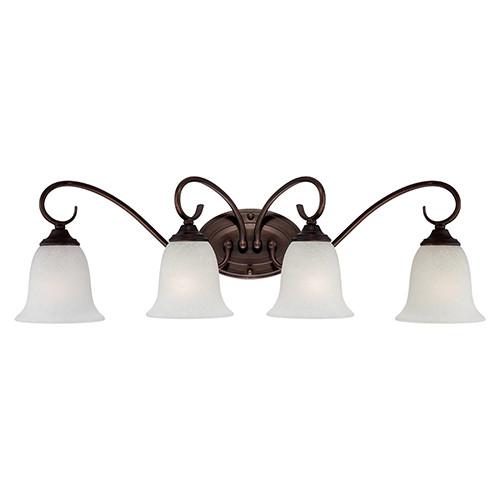 Millennium Lighting 1184-RBZ Light India Scavo Vanity Light in Rubbed Bronze