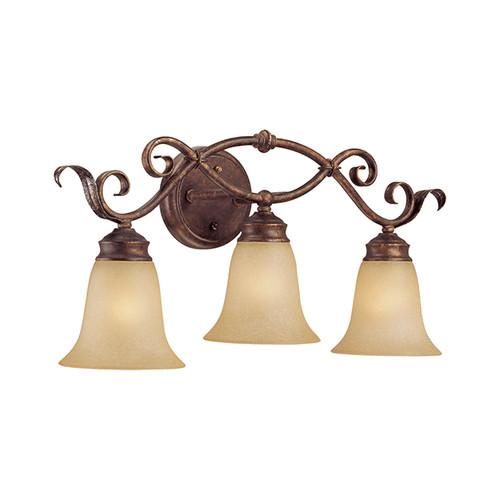 Millennium Lighting 7053-BB/S Florentine Scavo Vanity Light in Burled Bronze/Silver
