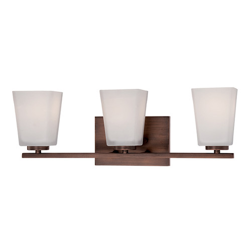 Millennium Lighting 293-RBZ Etched White Vanity Light in Rubbed Bronze