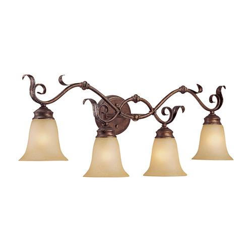 Millennium Lighting 7054-BB/S Florentine Scavo Vanity Light in Burled Bronze/Silver