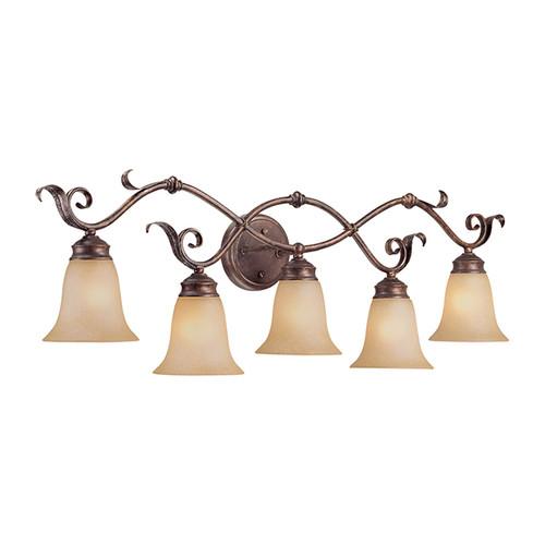 Millennium Lighting 7055-BB/S Florentine Scavo Vanity Light in Burled Bronze/Silver