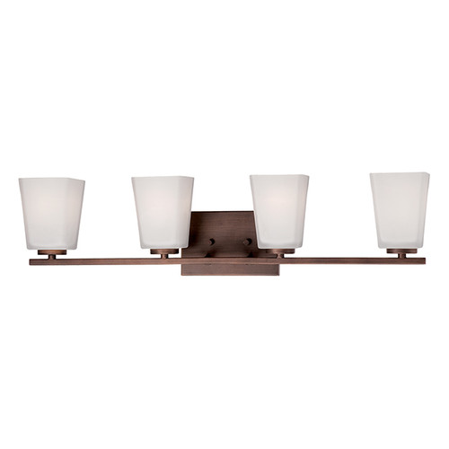 Millennium Lighting 294-RBZ Etched White Vanity Light in Rubbed Bronze