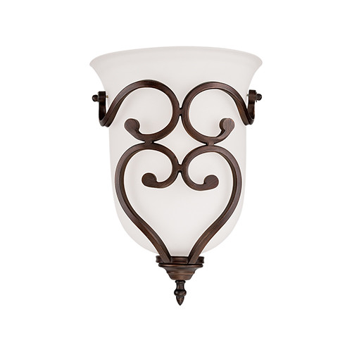 Millennium Lighting 1561-RBZ Courtney Lakes Turinian Scavo Wall Sconce in Rubbed Bronze