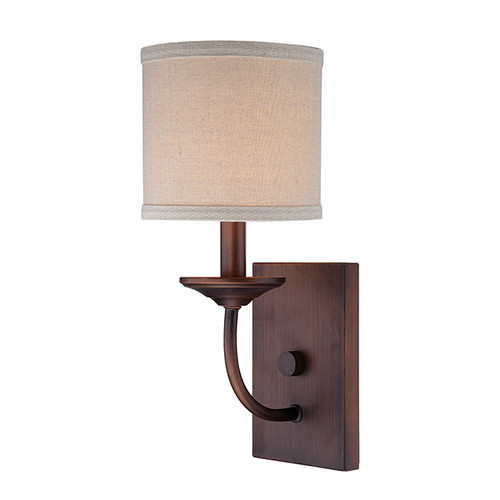 Millennium Lighting 3111-RBZ Jackson Wall Sconce in Rubbed Bronze with Beige Shade