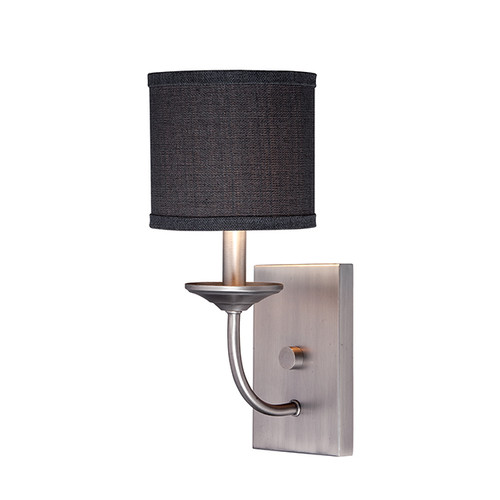 Millennium Lighting 3111-BPW Jackson Wall Sconce in Brushed Pewter with Charcoal Shade