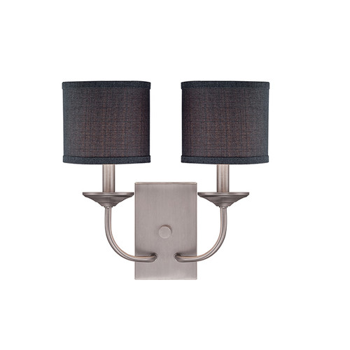 Millennium Lighting 3112-BPW Jackson Wall Sconce in Brushed Pewter with Charcoal Shade