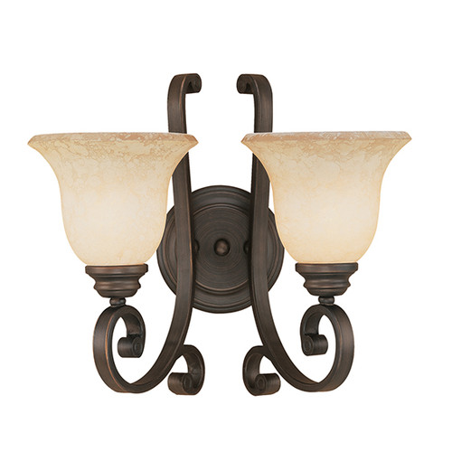 Millennium Lighting 1222-RBZ Oxford Turinian Scavo Wall Sconce in Rubbed Bronze