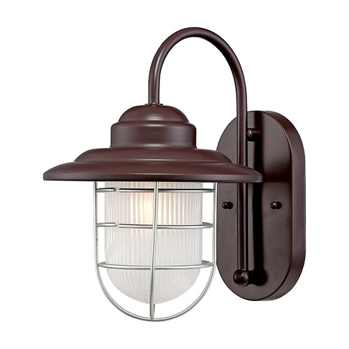 Millennium Lighting 5390-ABR R Series Inside Etched Wall Sconce in Architectural Bronze