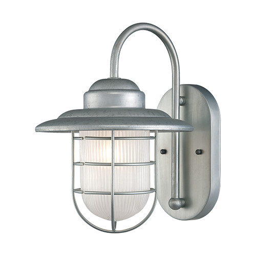 Millennium Lighting 5390-GA R Series Inside Etched Wall Sconce in Galvanized