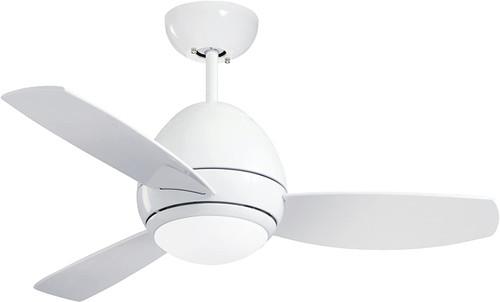 Emerson CF244LWW Curva 44-inch Modern Ceiling Fan, 3-Blade Ceiling Fan with LED Lighting and 6-Speed Remote Control
