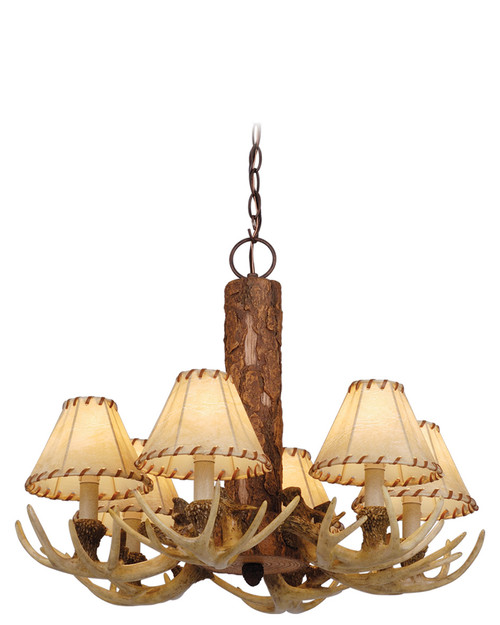 Vaxcel CH33006NS Lodge 6 Light Chandelier