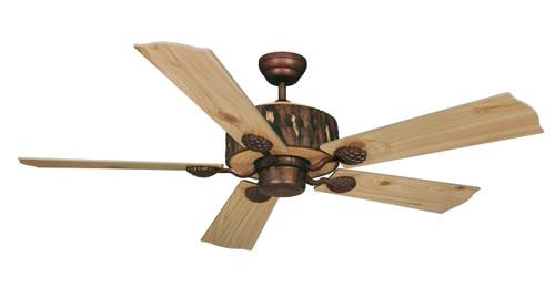"""Vaxcel FN52265WP Log Cabin 52"""" Ceiling Fan"""