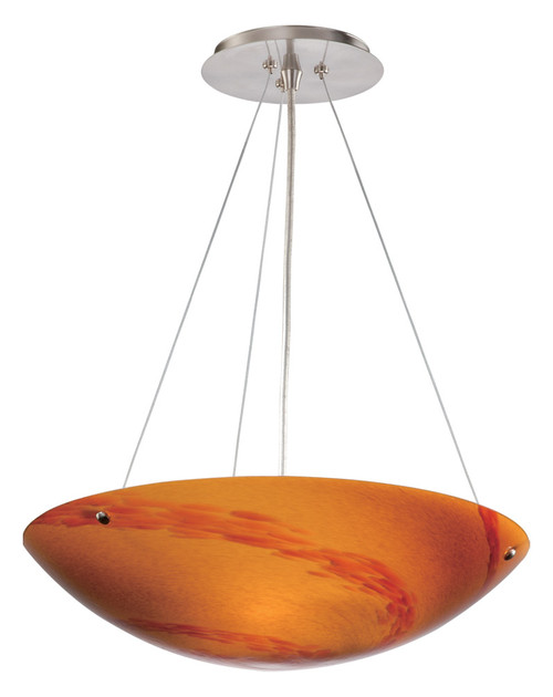 """Vaxcel PD53212SN Milano 16"""" Pendant with Lava Swirl Glass"""