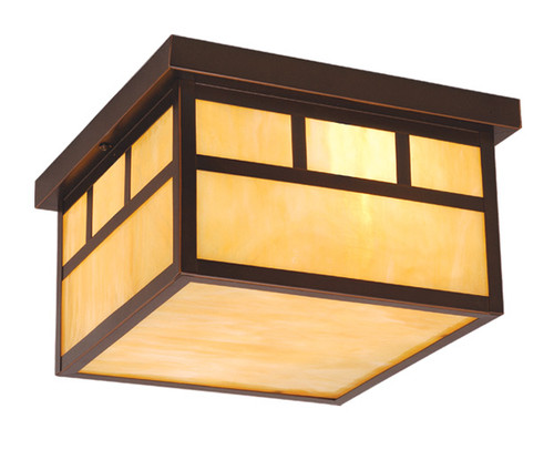 "Vaxcel OF37211BBZ Mission 12"" Outdoor Ceiling Light"