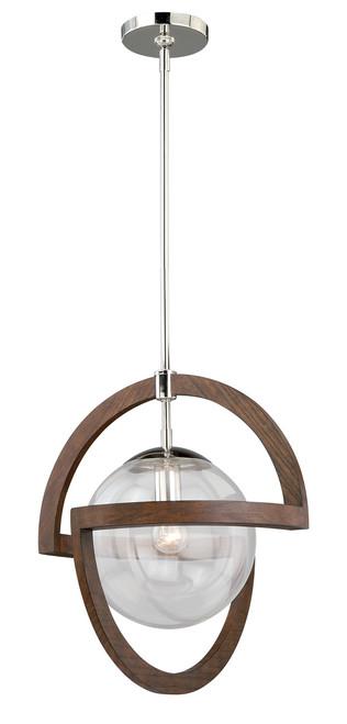 "Vaxcel P0112 Mondial 17-3/4"" Pendant Wood"