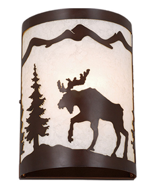 """Vaxcel WS55608BBZ Yellowstone 8"""" Wall Sconce"""
