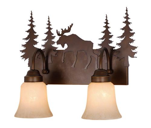 Vaxcel VL55602BBZ Yellowstone 2 Light Vanity