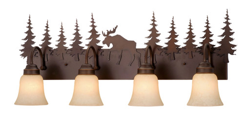 Vaxcel VL55604BBZ Yellowstone 4 Light Vanity