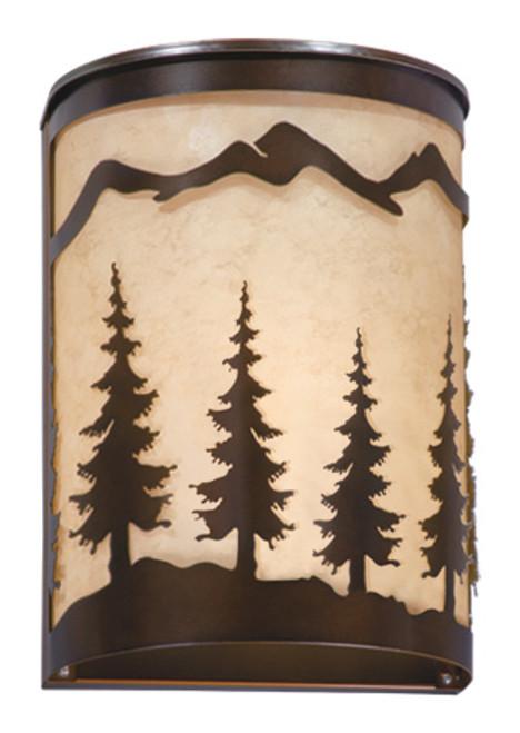 "Vaxcel WS55508BBZ Yosemite 8"" Wall Sconce"