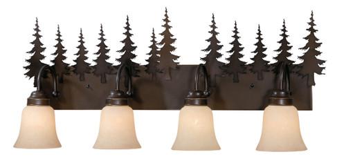 Vaxcel VL55504BBZ Yosemite 4 Light Vanity