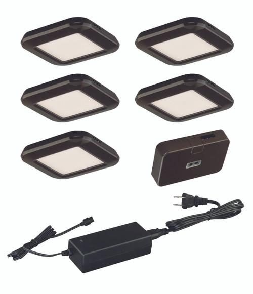 Vaxcel X0033 Smart Lighting Low Profile Under Cabinet Puck Light 5-pack Kit
