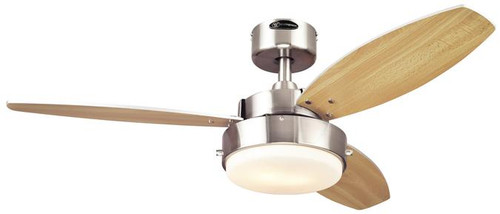 """Westinghouse 7247300 Alloy 42"""" Reversible Three-Blade Indoor Ceiling Fan"""