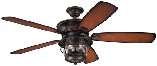Westinghouse 7800000 Westinghouse 7800000 Brentford 52-Inch Aged Walnut Indoor/Outdoor Ceiling Fan, Light Kit with Clear Seeded Glass