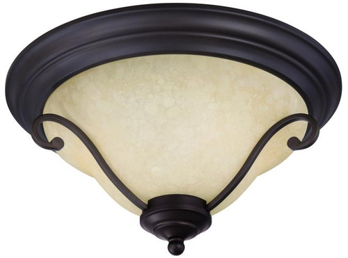 Westinghouse 6340500 Callan Two-Light Indoor Flush Ceiling Fixture