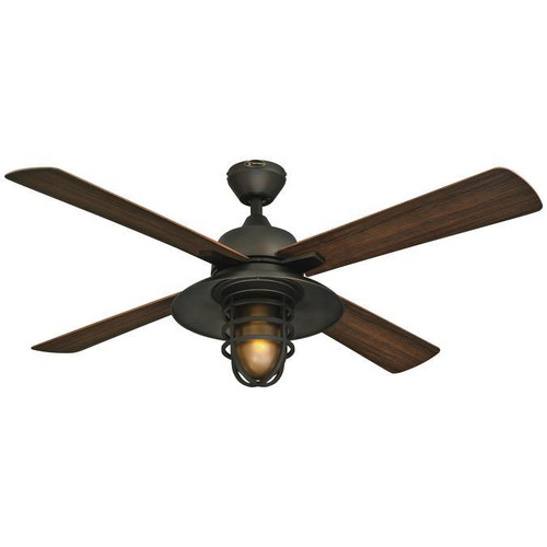 Westinghouse 7204300 Great Falls 52-Inch ABS Four-Blade Indoor/Outdoor Ceiling Fan with Oil Rubbed Bronze Finish and One-Light Frosted Amber Glass
