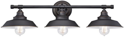 Westinghouse 6343400 Iron Hill Three-Light Indoor Wall Fixture