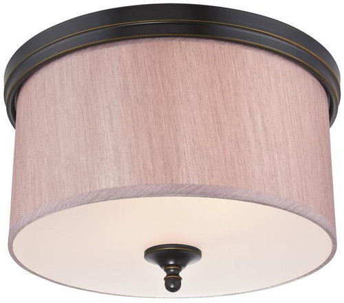 Westinghouse 6341600 Packard Two-Light Indoor Flush Ceiling Fixture