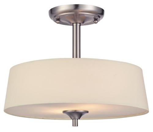 Westinghouse 6225700 Parker Mews Two-Light Semi-Flush Ceiling Fixture
