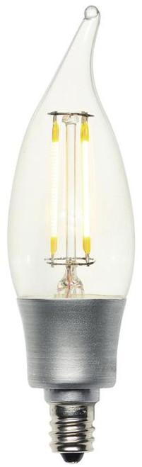 Westinghouse 4317000 4.5 Watt (60 Watt Equivalent) CA11 Dimmable Filament LED Light Bulb, ENERGY STAR 2700K Clear E12 (Candelabra) Base, 120 Volt