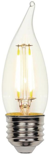 Westinghouse 4317100 4.5 Watt (60 Watt Equivalent) CA11 Dimmable Filament LED Light Bulb 2700K Clear E26 (Medium) Base, 120 Volt