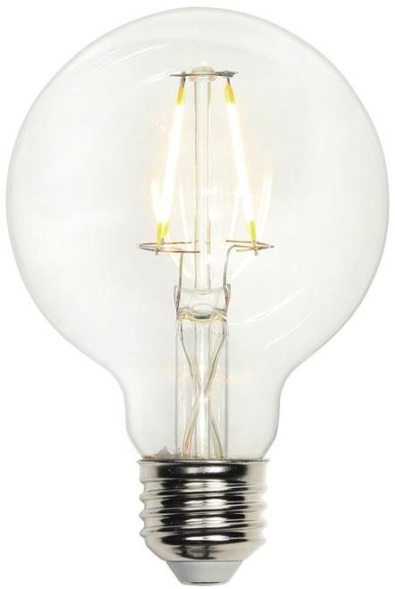 Westinghouse 3317200 4-1/2 Watt (40 Watt Equivalent) G25 Dimmable Filament LED Light Bulb 2700K Clear E26 (Medium) Base