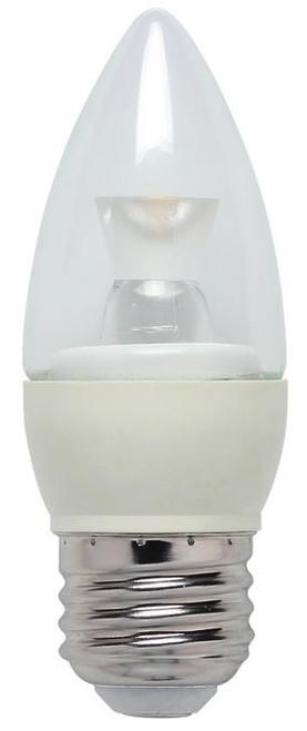 Westinghouse 3304600 3 Watt (Replaces 25 Watt) Torpedo B10 Dimmable LED Lightbulbs, ENERGY STAR