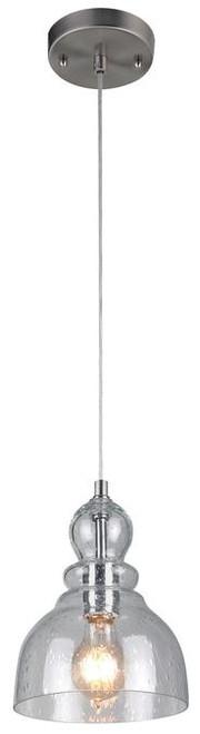 Westinghouse 6100700 One-Light Adjustable Mini Pendant in Brushed Nickel Finish