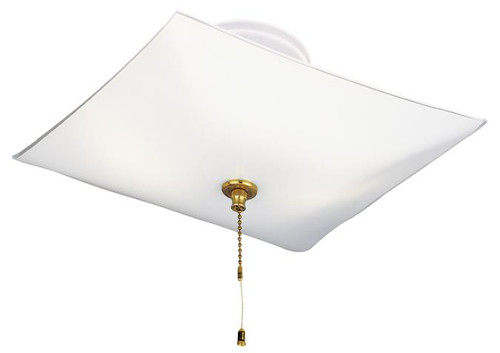 Westinghouse 6620000 Two-Light Indoor Semi-Flush-Mount Ceiling Fixture with Pull Chain