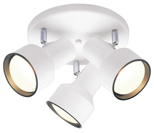 Westinghouse 6632600 Three-Light Indoor Multi-Directional Flush-Mount Ceiling Fixture